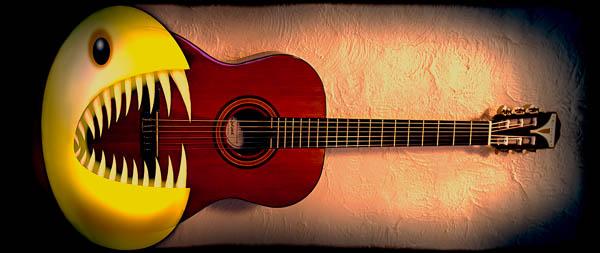 Pac Man vs Guitar
